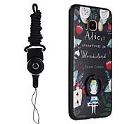Недорогие -Кейс для Назначение SSamsung Galaxy S8 Plus S8 Кольца-держатели С узором Кейс на заднюю панель Слова / выражения Мультипликация Твердый ПК