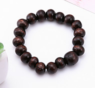 cheap -Men's Strand Bracelet Jewelry Natural Fashion Wood Irregular Jewelry Special Occasion Gift Sports Costume Jewelry Black