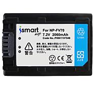 Ismartdigi FV70 7.2V 2060mAh Camera Battery for Sony HDR-PJ670 820 610 CX900 AX100E