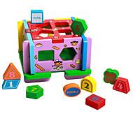 Домик для игры Игры с последовательностью Для получения подарка Конструкторы Натуральное дерево 3-6 лет Игрушки