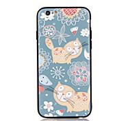 Недорогие -Для apple iphone 7 7 плюс iphone 6s 6 плюс чехол для крышки кошачий узор 3d рельеф пластиковый корпус корпуса корпуса tpu