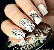 cheap -BORN PRETTY Zebra Wolf Animal Patterns Nail Art Stamp Template Image Plate BP16 Nail Stamping Plates Set Nails Tool