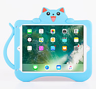 Case For Apple Shockproof with Stand Pattern Back Cover Cat 3D Cartoon Soft Silicone for iPad Pro 9.7'' iPad Air 2