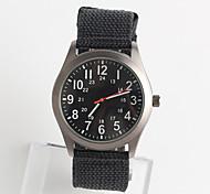 Мужской Модные часы Японский Японский кварц / Нейлон Группа Повседневная Черный Серебристый металл