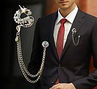 Men's Women's Brooches Rhinestone Animal Design Fashion Personalized Euramerican Alloy Jewelry For Dailywear Casual
