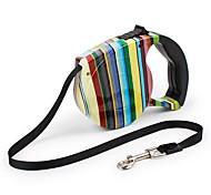 cheap -Dog Leash Portable Adjustable Safety Rainbow Flower/Floral ABS Nylon White Black Blue Rainbow