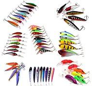 cheap -HiUmi Lot 53 pcs Hard Bait Metal Bait Swimbaits Minnow Crank Pencil Vibration/VIB Lure kits Fishing Lures Metal Bait Hard Bait Spoons Minnow Crank
