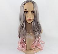 Недорогие -Искусственные волосы парики Волнистый Без шапочки-основы Парики для косплей Средние