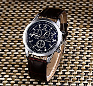 Men's Sport Watch Fashion Watch Casual Watch Chinese Quartz Water Resistant / Water Proof Leather Band Creative Casual Elegant Black
