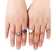 Жен. Классические кольца Кольцо манжета кольцо По заказу покупателя Rock Euramerican Простой стиль Металлический сплав Резина Сплав