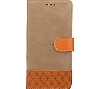 Недорогие -Кейс для Назначение Motorola Бумажник для карт Кошелек со стендом Флип Рельефный Чехол Сплошной цвет Твердый Кожа PU для Moto G5 Мото G4