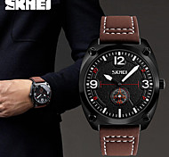 SKMEI Men's Fashion Watch Japanese Quartz Water Resistant / Water Proof Leather Band Casual Cool Black Brown Green