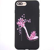 Caso para el iphone de la manzana 7 7 más el patrón de los altos talones de la cubierta del caso friegan la caja material del teléfono de