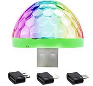YWXLight® 5W Mobile Phone USB Stage Light DJ Lamp LED Voice Colorful Ball Mini Disco Light sound control lamp DC 5V Black
