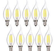 4W E14 Bombillas de Filamento LED C35 4 leds COB Blanco Cálido Blanco 400lm 2700-3200 6000-6500K AC 100-240V