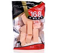 24pcs Soft Cheap Sponge Material Foundation Powder Puff Three Shape