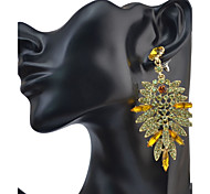 Mujer Pendientes colgantes Cristal Diseño Básico Circular Diseño Único Colgante Diamantes Sintéticos Amistad Sexy Joyería de Lujo Borla