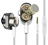 YINJW S1 Dual Driver System Speakers HIFI Bass Subwoofer In Ear Earphone Earbud Professional Stereo Monitor Earbuds With Mic