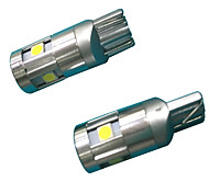 Полный алюминиевый материал 3w объектив дизайн t10 can-bus светодиодная лампа белого цвета (2шт)