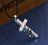Men's Pendant Necklaces Statement Necklaces Cross Stainless Steel Titanium Steel Unique Cool Casual Fashion Dangling Style Jewelry