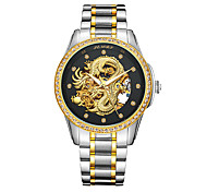 cheap -Men's Automatic self-winding Wrist Watch Japanese Water Resistant / Water Proof Hollow Engraving Noctilucent Stainless Steel 24K Gold