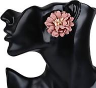 Women's Earring Back Stud Earrings Earrings Flower Style Flowers Floral Fashion Bohemian Resin Flower Jewelry For Casual Stage Street
