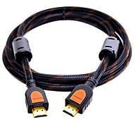 HDMI 2.0 Cable, HDMI 2.0 to HDMI 2.0 Cable Macho - Macho Cobre dorado 0,5m (1.5ft)