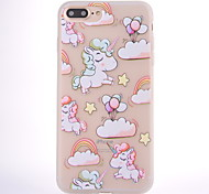 cheap -Case For Apple iPhone 8 iPhone 8 Plus Frosted Translucent Pattern Back Cover Unicorn Balloon Soft TPU for iPhone 8 Plus iPhone 8 iPhone 7