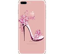 Недорогие -Кейс для Назначение Apple iPhone X iPhone 8 iPhone 8 Plus Прозрачный С узором Кейс на заднюю панель Соблазнительная девушка Мягкий ТПУ для