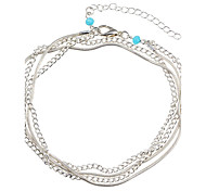 cheap -Hypoallergenic Anklet - Women's Silver Hypoallergenic Fashion Snake Alloy Anklet For Party Daily