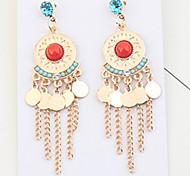 Women's Drop Earrings Cubic Zirconia RhinestoneBasic Unique Design Tassel Friendship Gothic Movie Jewelry Durable Statement Jewelry Sexy