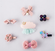 Cat Dog Hair Accessories Dog Party Cosplay Wedding Halloween Christmas New Year's Bowknot Clothes Hair Bow Set of 7-PINK