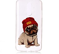 Case For LG K10 (2017) K8 (2017) Case Cover Dog Pattern High Permeability TPU Material IMD Technology Flash Powder Phone Case G6