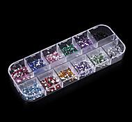Pinpai Decorative Rhinestone Acrylic Nail Supplies Wholesale Nail Drill 12 with Flat Packing Nail Art Design