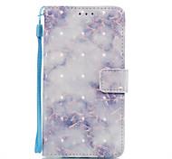 For Huawei P10 Lite P8 Lite (2017) Case Cover Blue Pattern 3D Painted Card Stent Wallet Phone Case For Galaxy P8 Lite P9 Lite Nova 2