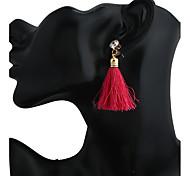 Women's Earring Back Drop Earrings Hoop Earrings Dangling Style Tassel Fashion Resin Alloy Geometric Jewelry For Gift Stage