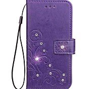 Fall für Samsung Galaxy Note 5 Note 4 Brieftasche Rhinestone geprägt Muster PU Leder Tasche für Samsung Galaxy Note 3