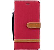 Für samsung galaxy a3 (2017) a5 (2017) case cover card holder wallet mit stand flip full body case solide farbe hartes pu leder für a3