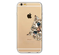 Case For Apple iPhone X iPhone 8 Plus Transparent Pattern Back Cover Cat Soft TPU for iPhone X iPhone 8 Plus iPhone 8 iPhone 7 Plus