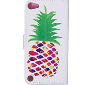 For Case Cover Pattern Full Body Case With Stylus Fruit Hard PU Leather for Apple ipod Touch 5 Touch 6