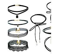 Недорогие -Жен. Набор украшений Ожерелья с подвесками Черный Choker В виде подвески Euramerican Простой стиль Сплав Смешанные материалы