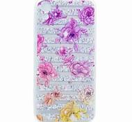 Недорогие -Кейс для Назначение HTC HTC Desire 626 Прозрачный С узором Кейс на заднюю панель Цветы Мягкий ТПУ для