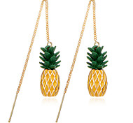 Hot Brincos Pineapple Long Dangle Earrings Jewelry For Women Fashion Gold Color Pendant Charm Accessories Boucle D'oreille