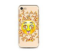 Кейс для Назначение Apple iPhone X iPhone 8 Plus Прозрачный С узором Задняя крышка Продукты питания Мультипликация Мягкий TPU для iPhone