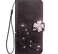 cheap -Case for Samsung Galaxy Grand Prime G530 Core Prime G360 Wallet Rhinestone Embossed Pattern Case for Samsung Galaxy Trend Duos(S7562) On5 C5 C7