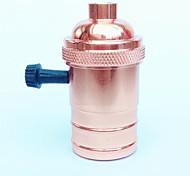 Недорогие -e27 роза золотой лампа держатель ручка переключатель высокое качество освещение аксессуары