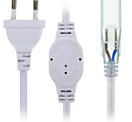 cheap -HKV® US/EU Plug Socket With 2 Pins For 5630/5050 SMD LED Strip Light Bar AC220-240V