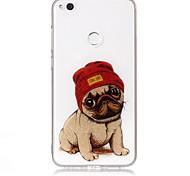 Caso para huawei p8 lite (2017) p10 lite telefone caso material tpu processo imd padrão de cachorro hd flash caixa de telefone em pó p9