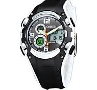 OHSEN Men's Wrist watch Unique Creative Watch Casual Watch Wood Watch Sport Watch Fashion Watch Quartz Digital LED Silicone Band Luxury