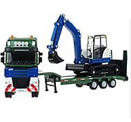 Die-Cast Vehicles Toy Cars Toys Motorcycle Construction Vehicle Fire Engine Vehicle Excavator Rectangular Excavating Machinery Metal